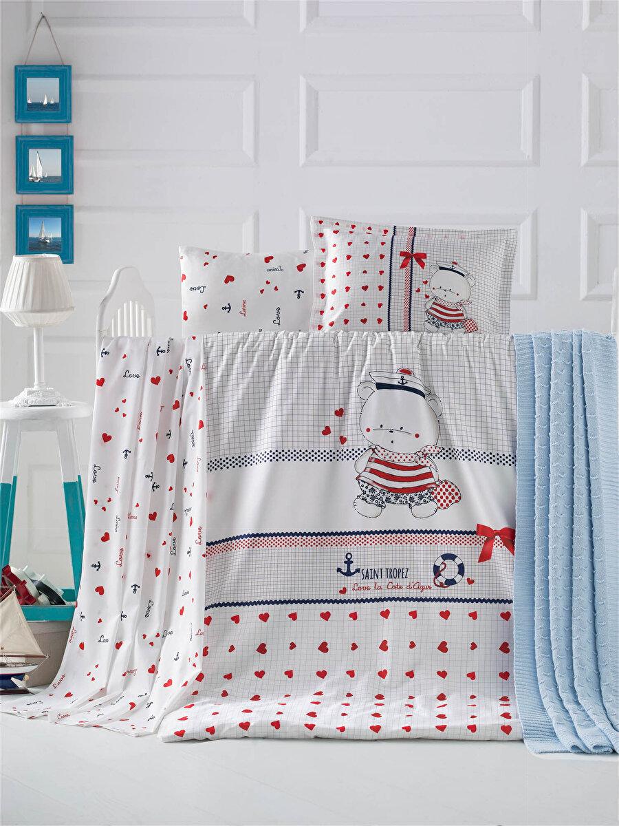 Bebek Nevresim Takımı Love Of Sleep - Kırmızı