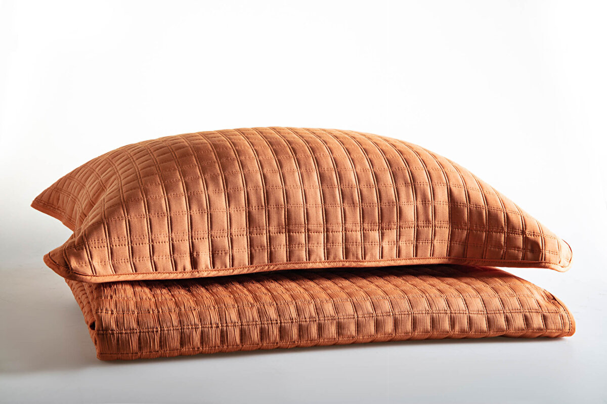 Alvin Çift Kişilik Yatak Örtüsü - Karamel